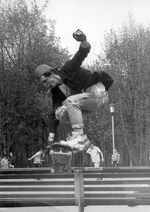 The skateboarding craze hit the Baltic republics first: in Estonia skaters began making their own boards in 1979.
