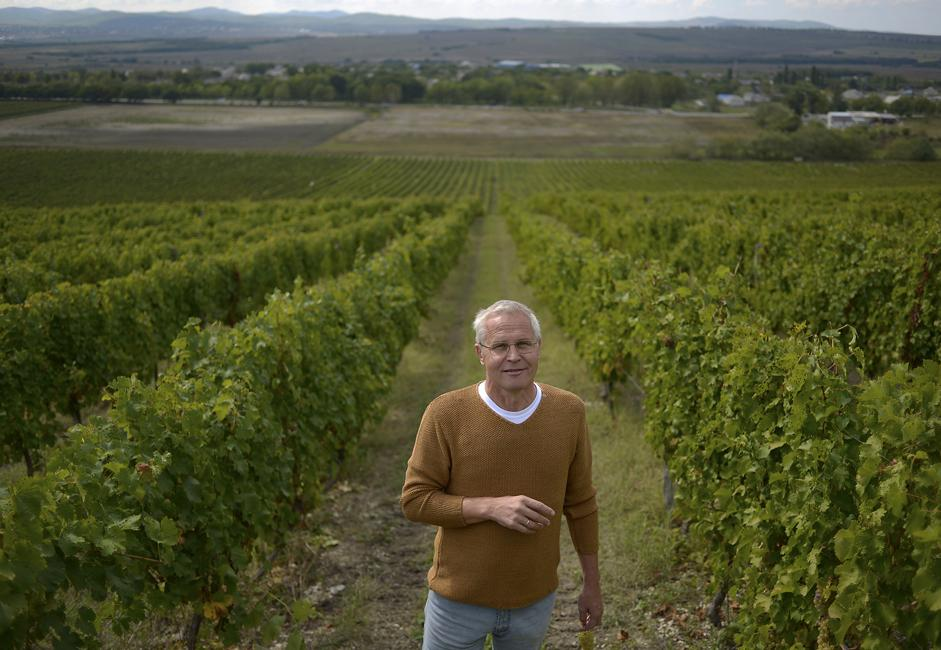 "Gennady Oparin is one of those who at one point hauled imported wine into Russia in tanks. But now he's planted his vineyards in the calcareous clay soil (""Our land is just like in Burgundy"") and produces wine in small batches. All of it is his."