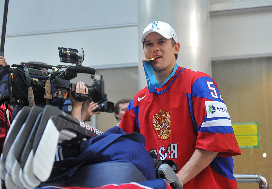 Most of the torchbearers will be aged 24-33, although any citizen of the Russian Federation aged at least 14 is eligible to participate. // Sergei Shirokov, Russian national ice hockey team player and member of Moscow CSKA club