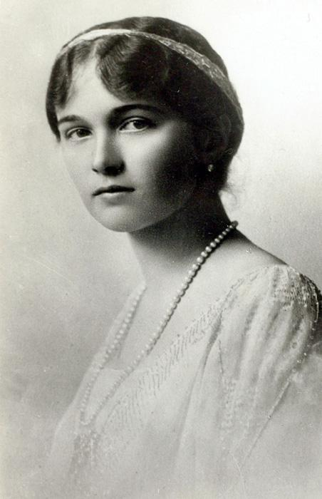 "Grand Duchess Olga Nikolaevna (aged 22 on the day she was shot) // ""Grand Duchess Olga Nikolaevna was a typical good Russian girl with a big heart. She impressed those around her with her tenderness and with the charming and kind way she dealt with everyone. She was precise, calm and strikingly simple and natural with everyone."" (From the memoirs of General Mikhail Diterikhs)"