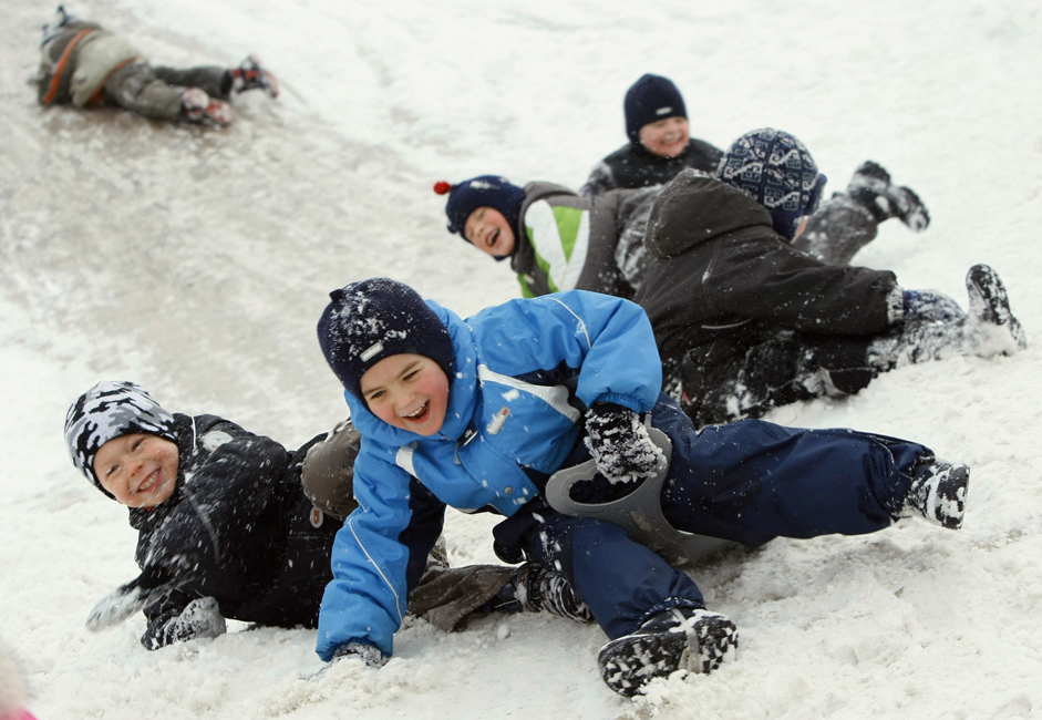 No less ancient than making snowmen is the tradition of downhill sledging.