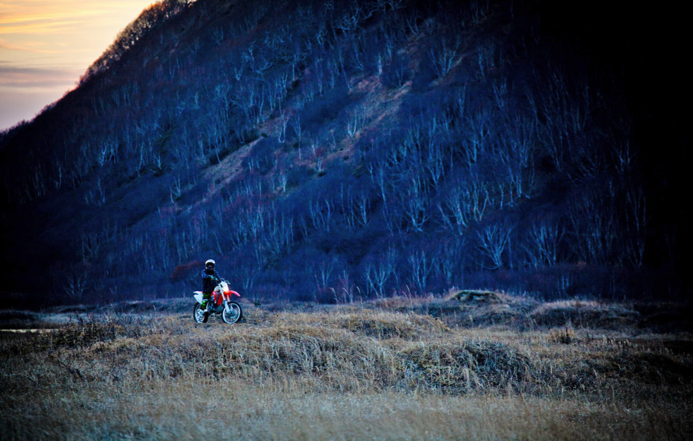 """What do I get out of motorbiking on Kamchatka? One hell of an adrenaline rush at the first turn of the throttle!"""