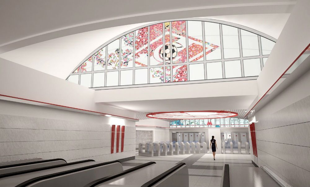Spartak//This metro station, which is currently under construction, will be located next to Spartak Stadium. In 2018, the stadium, which features a seating capacity of 44,000, will be one of the main arenas for the FIFA World Cup. The station is named after the famous football team of the same name. The Spartak football club is called the winningest club in Russia for good reason. It was champion of the Soviet Union 12 times, champion of Russia 9 times, won the Russian Cup 3 times, and has been a semifinalist in two main European club tournaments (the Champions Cup and the UEFA Cup)./Approximate opening date: 2014