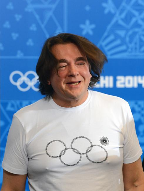 The main creative producer and scenario writer of the 2014 Winter Olympics' opening ceremony, Channel One Director General Konstantin Ernst during a news conference devoted to the closing ceremony of the XXII Winter Olympic Games.