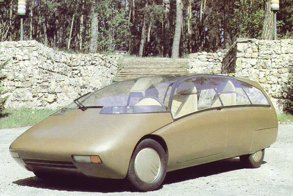 The VAZ X was an experimental concept car with the body of a minivan, built by VAZ presumably in 1990 or thereabouts. The car was mentioned in several specialized publications, including ones abroad, but no specific information about it is available. It is known to have existed in just one instance, and the advanced technologies that it featured later migrated to the VAZ series of minivans, currently in production. The original VAZ X model has been lost.