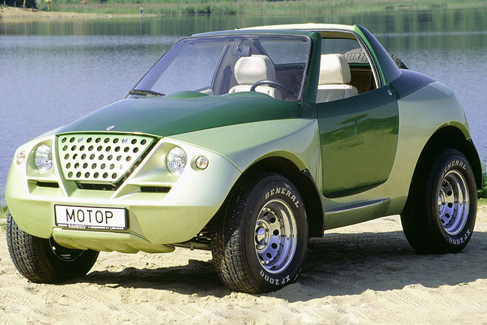 The Cardi Tetra Next, a conceptual off-roader for active leisure, was unveiled back in 1997. The two-seater Targa-type body was mounted on a spatial frame, while the chassis was assembled on the basis of the VAZ-2121 Niva. The model was intended for mass production, but remained a concept — another futile attempt by engineer enthusiast Sergey Alyshev to add a touch of class to the Russian car industry.