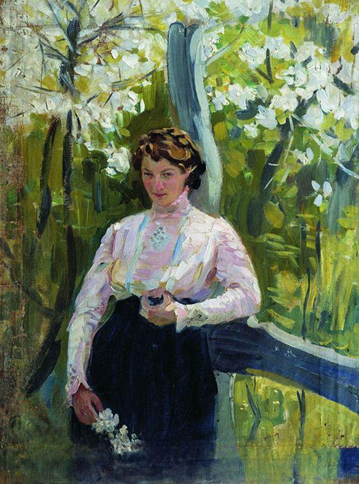 A portrait of an unknown girl painted by Ivan Kulikov in 1912. He had just graduated from the Academy of Fine Arts and produced many portraits and landscapes at that time. On the eve of the First World War, the artist traveled around abandoned family estates and made copies of the paintings, sculptures, and archived documents that he found there. / Spring, 1912 Ivan Kulikov