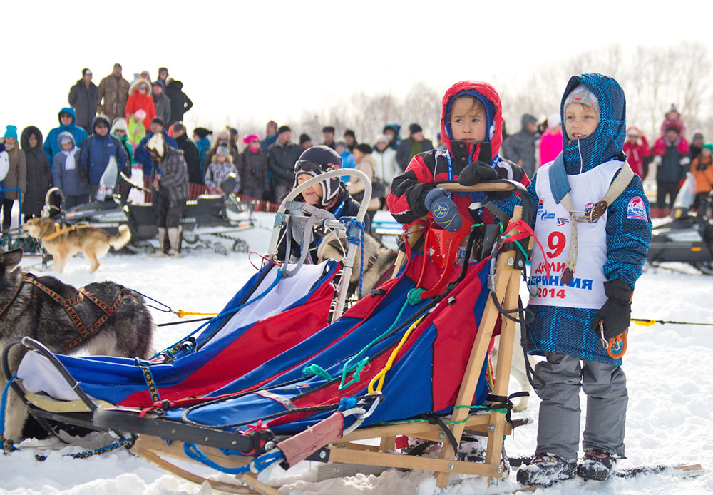 "Going back several years before Beringia, the children's sled dog race ""Dyulin"" has been held annually. The main prize is a puppy."
