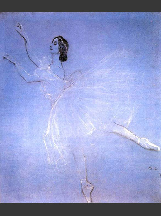 "The ballet ""La Sylphide"", in which the role of the mythical sylph was performed by the brilliant Russian ballerina Anna Pavlova (1881-1931), was based on the fantasy novella ""Trilby"" by French writer Charles Nodier (1822)  / Valentin Serov, Anna Pavlova in ""La Sylphide"", 1909"