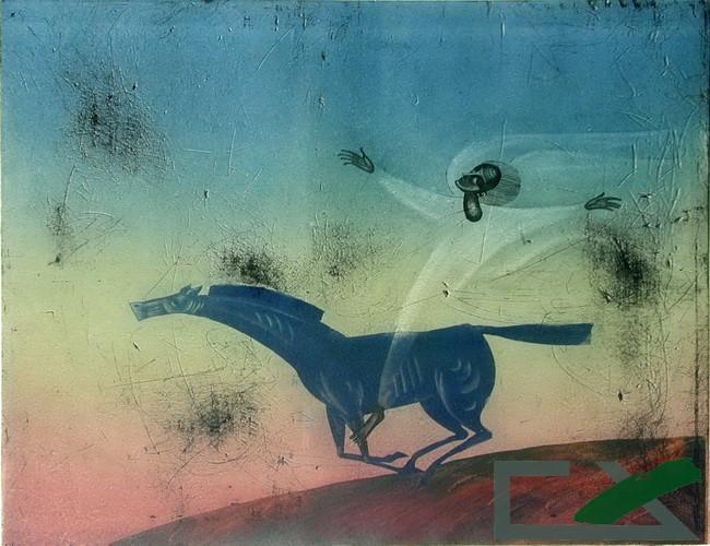 DiaS画廊收藏最优秀的俄罗斯西伯利亚画家的作品。至今已收藏包括从青年画家、有前途的作者到著名的,甚至人民艺术家的作品2000多幅。//《灵感》,A.马上诺夫作