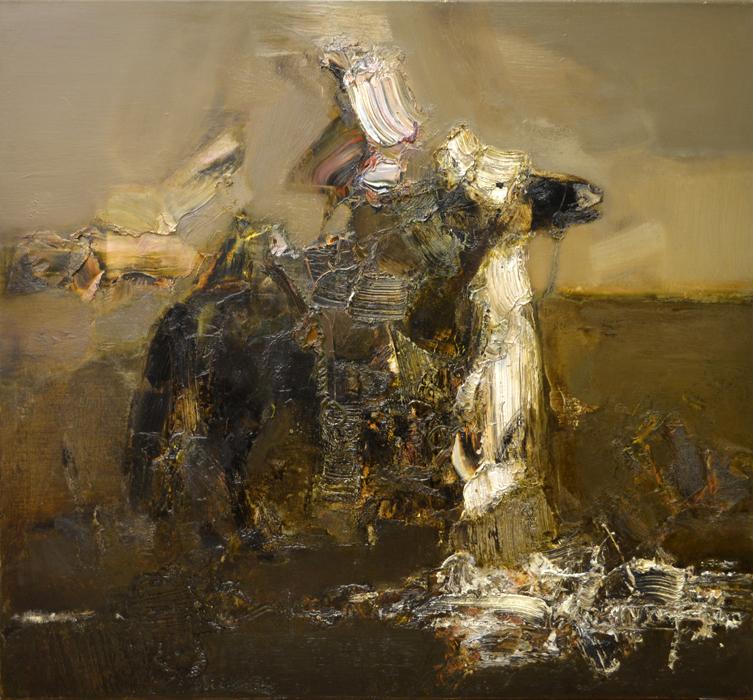 学者、旅行家、俄罗斯功勋艺术家尼古拉•雷巴柯夫在自己70年的生活中不断学习成为游牧民族。他的作品充满神秘气息,这一切是画家通过僧侣和遥远辽阔的西伯利亚草原游牧民族以及滚烫的蒙古沙漠领会到的。《骑手•英雄时代》,尼古拉•雷巴柯夫作