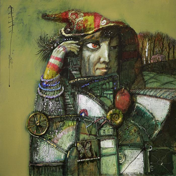 丹尼拉•缅什科夫(Danila Menshikov)。缅什科夫创作自己作品总是经过深思熟虑,深入历史地研究画作的主题。通过研究第一个实现环球旅行的水手麦哲伦的生活,缅什科夫创作了一系列表现旅行的作品。//《巫师》,丹尼拉•缅什科夫作