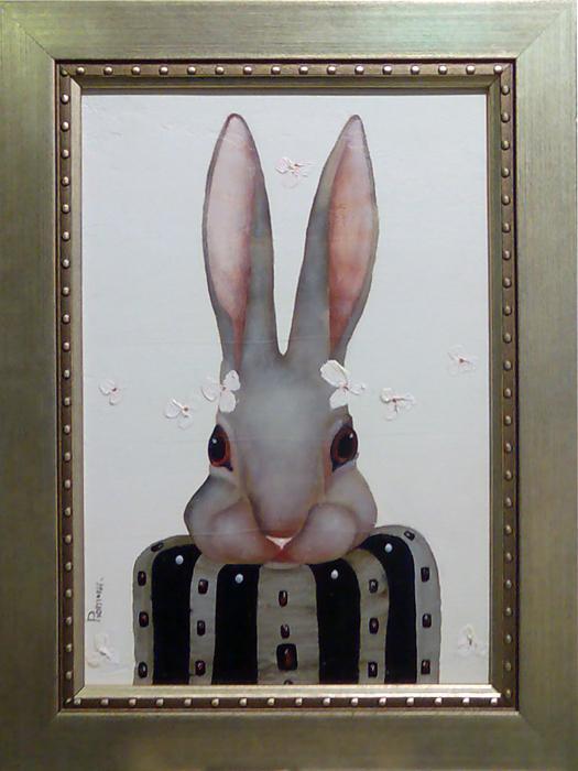 阿列克谢•留汀(Aleksey Ryutin)。为了创作,留汀用心感受一切。他画中的芭蕾女演员、花卉、风景皆饱含情感。他是一位在公众中享有知名度的成功艺术家,他的作品曾在俄罗斯色粉画展、莫斯科艺术展、中国艺术展和北京艺术展上展出。//《家兔》,阿列克谢•留汀作
