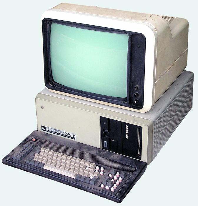 "The Iskra 1030 was a Soviet version of IBM's PC/XT - a compatible personal computer based on the KR1810VM86 processor (an analog of the Intel 8086). The Iskra 1030M model was first presented at the ""Automation'89"" international industrial exhibition, held in Moscow in late 1989. The model had good competitive advantages for its time: the 256 KB RAM was expandable to 1MB. The second and third iterations featured hard drives - up to 10 MB. However, it was not widely distributed."