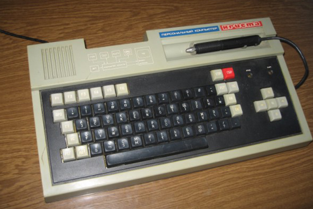 Krista, a Soviet-made 8-bit domestic PC based on the KR580VM80A processor (a clone of the Intel 8080), was technically identical to the Mikrosha. The computer had one very important difference - a touch screen. Krista could be operated using a light pen, something like a stylus for today's smartphones.