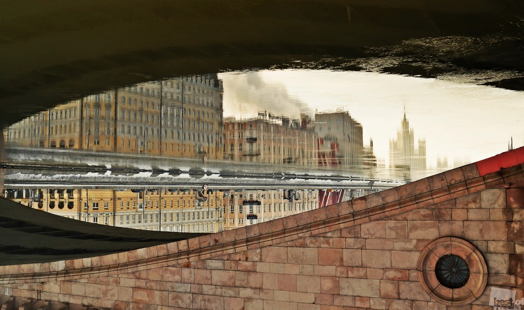 Everything depends on your point of view // An unknown view from underneath a famous Moscow bridge