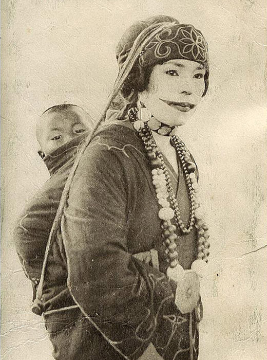 A variety of tattoos could also be found between the fingers of female Ainu. As with other peoples, an abundance of tattoos symbolized a woman's endurance and fertility.