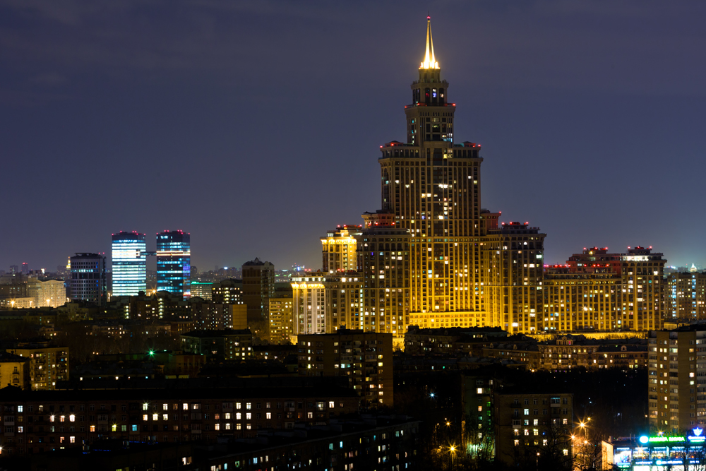 Moscow is one of the most expensive cities in the world. And when you glance at these elite residential high-rise buildings, it is immediately clear why. The height of the Triumph Palace residential complex reaches 264.1 meters. It is the tallest residential building in Europe. The building has 45 storeys, with residential apartments located on floors 11 to 38. The top three are home to the eponymous hotel, the tallest in Moscow and Europe.
