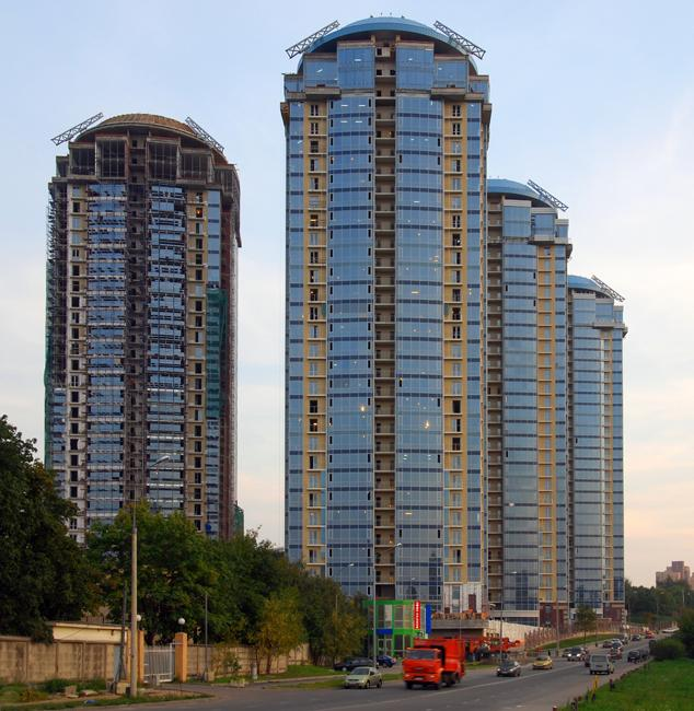 Kutuzovskaya Riviera is a residential complex located in an ecologically favorable district of Moscow. It is 100 meters high.