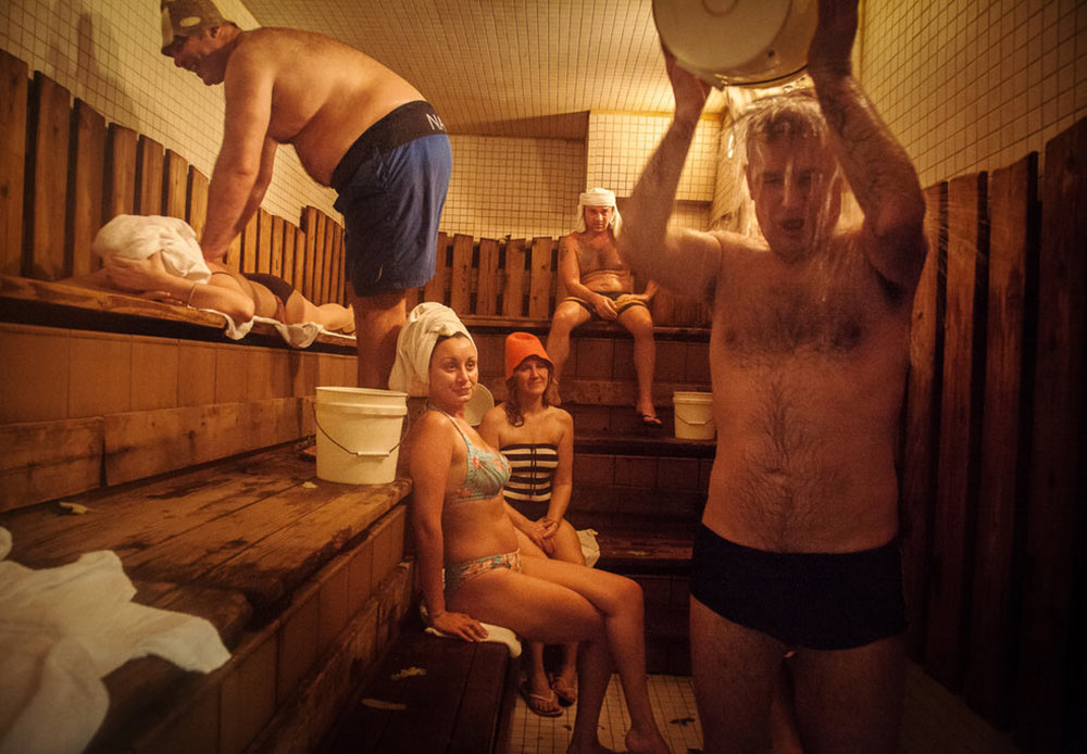 The oldest Russian sauna in Brighton Beach, New York. January 26, 2013