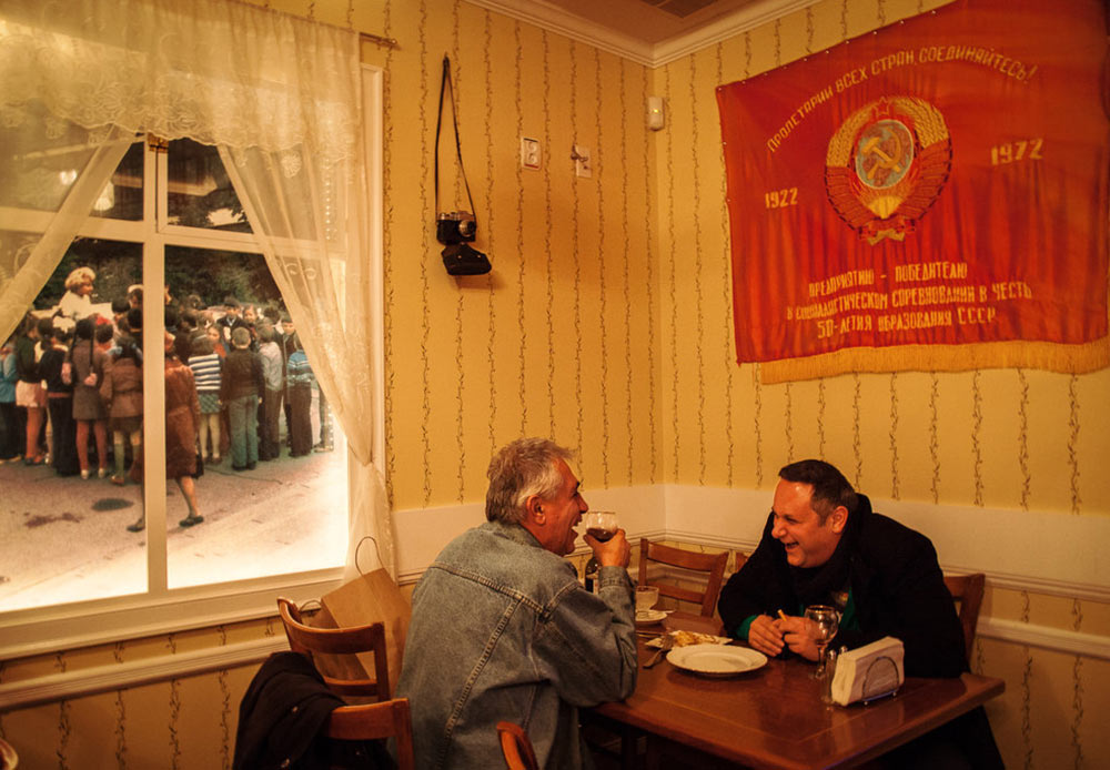"""Back to USSR"" restaurant. Brighton Beach, New York. January 27, 2013"