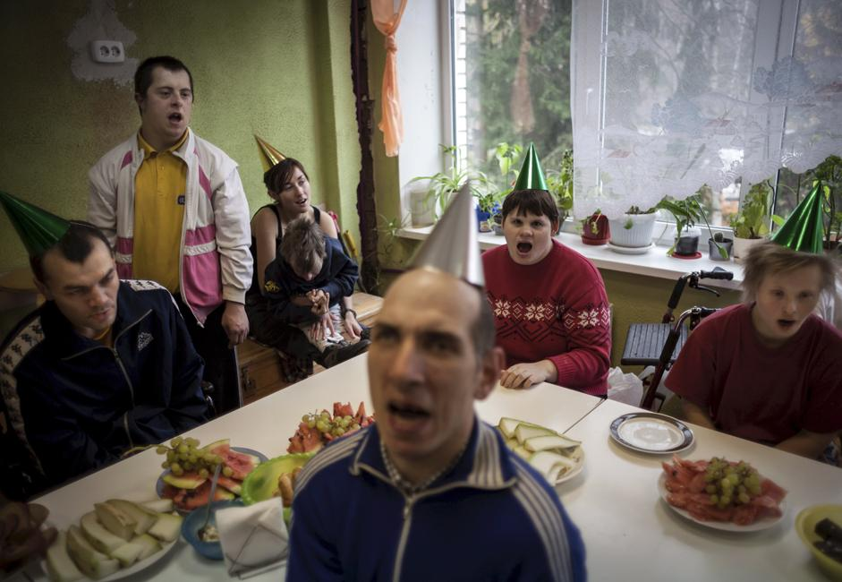 This boarding house is located in the outskirts of a Saint Petersburg district.