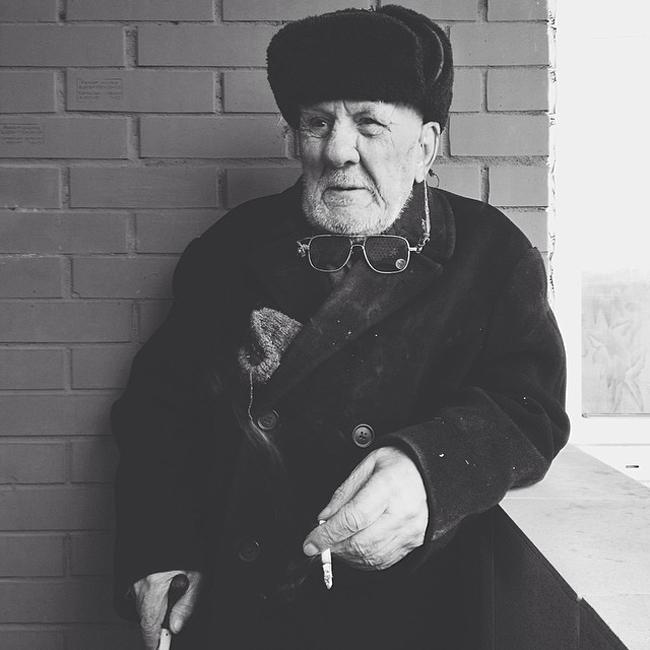 An old man, Moscow Region.