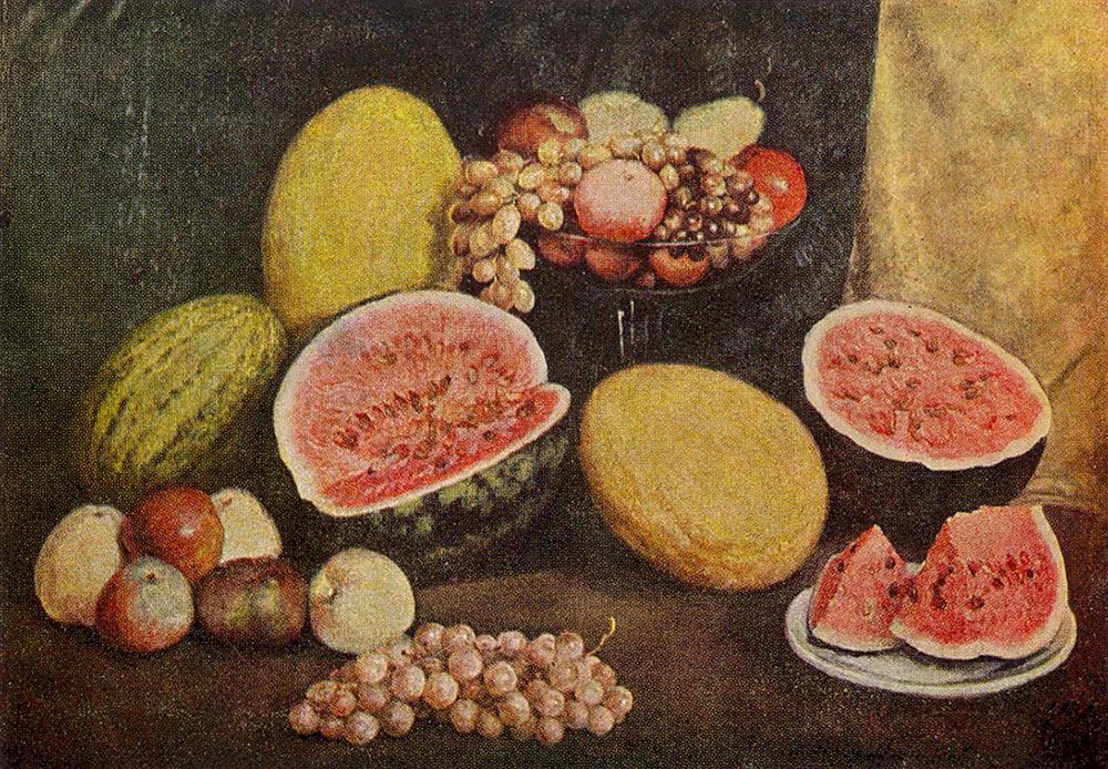 Still life of sliced watermelon, Ilya Mashkov, 1937
