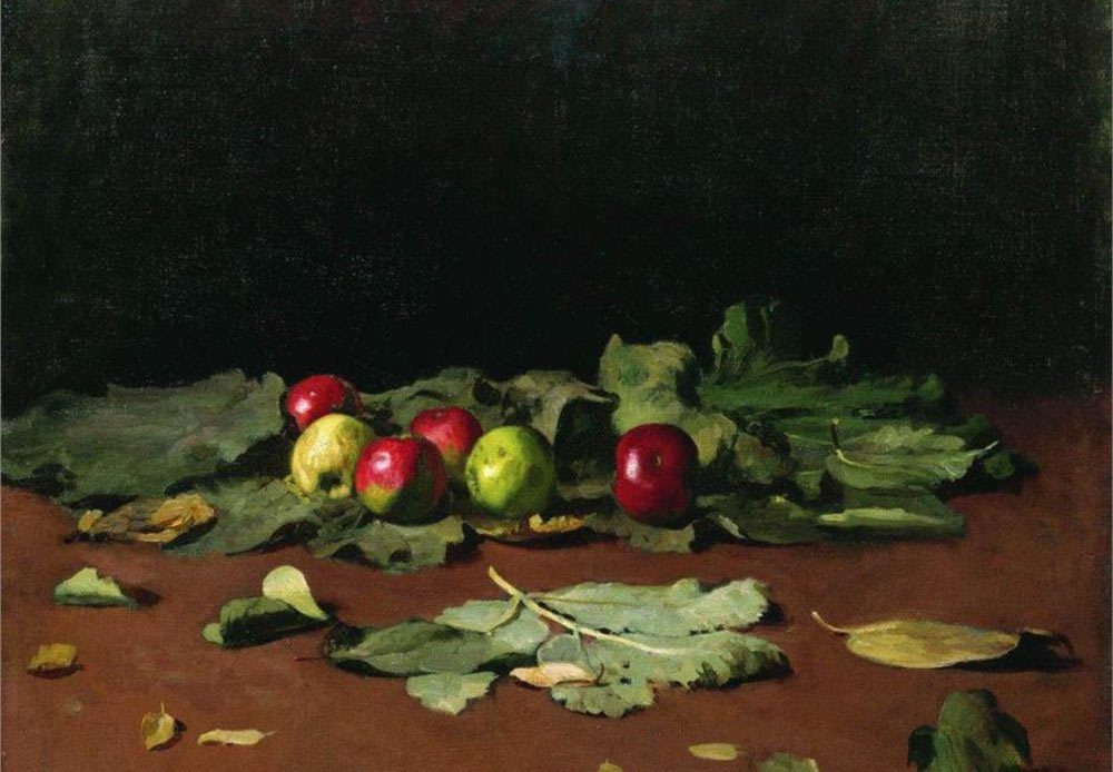 Apples and leaves, Ilya Repin, 1879