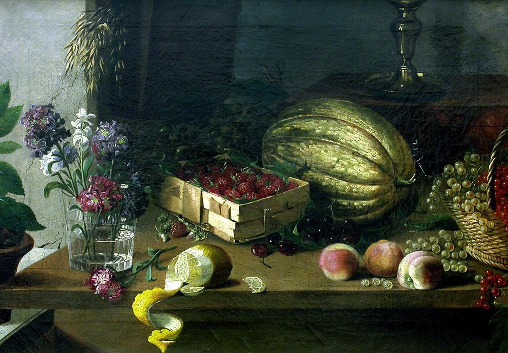 Flowers and fruits, Ivan Khrutsky, 1830s