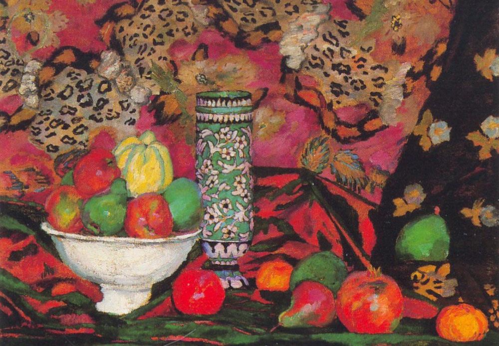Still life of fruits, Ilya Mashkov, 1908