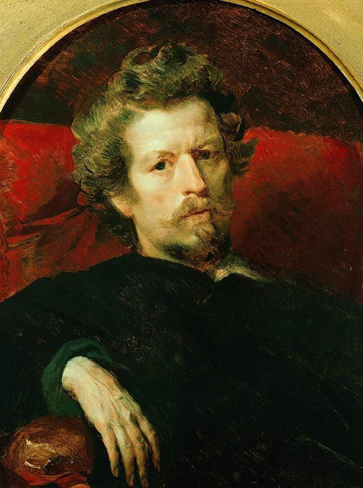 Self-portrait, Karl Bryullov was a painter whose most famous work was The Rider from 1832.