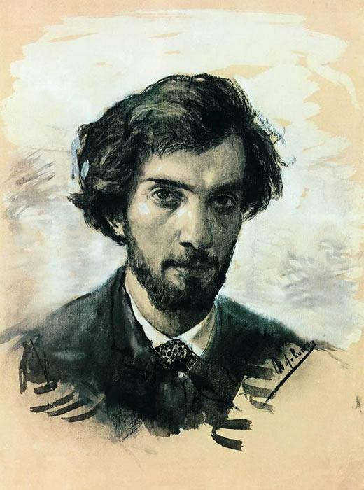 "Self-portrait, 1880, Isaac Levitan, master of the ""mood landscape"" genre. Known for his painting Spring. High Water in 1897."