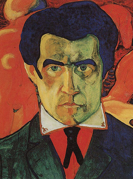 Self-portrait, 1908-1910, Kazimir Malevich was an avant grade artist and the primary founder of the Suprematist movement. His most famous painting was Black Square.