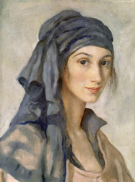Self-portrait of Zinaida Serebryakova whose most famous painting was At the Dressing Table from 1909.