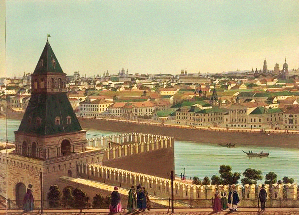 The historical machicolation of Tainitski Tower defended the fortress gates, drinking well, and underground passage. On the platform inside, cannons were installed and fired every day at noon, and on public holidays there were firework displays. It was demolished in 1930.