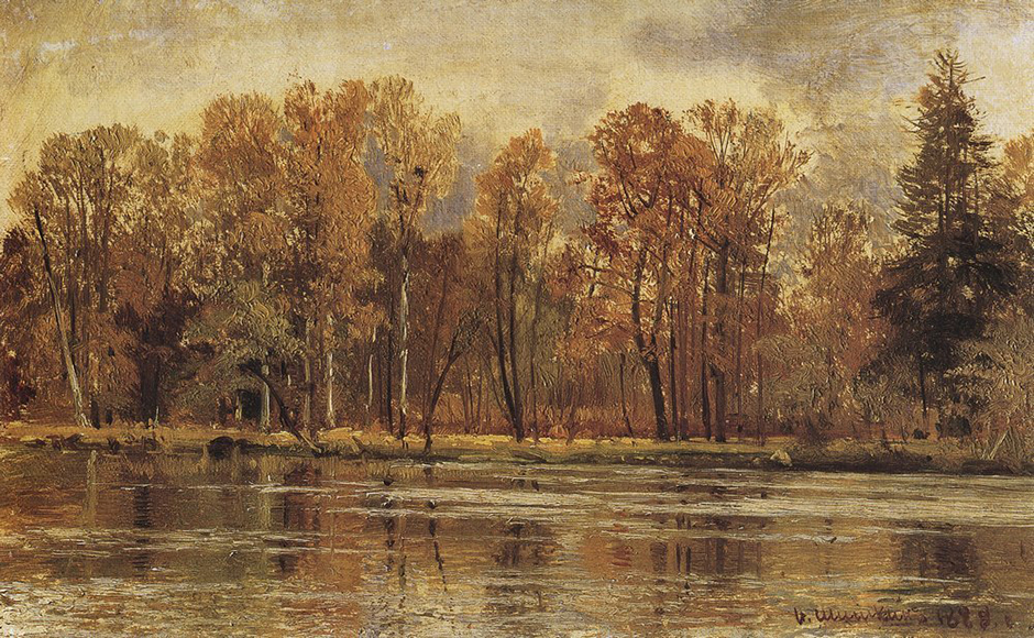 «Golden Autumn» is the second most popular painting by Ivan Shishkin, after «Morning in a Pine Forest». In this work the great landscape painter once again depicts the forest in exceptionally realistic detail // Ivan Shishkin «Golden Autumn», 1888