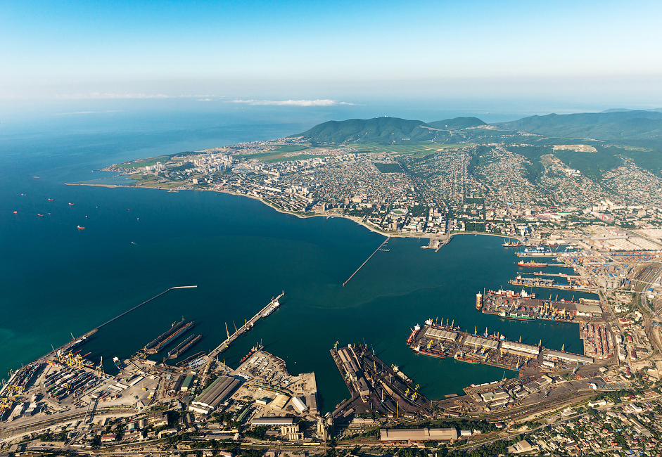 The Novorossiysk Port is the busiest in Russia and fifth-busiest in Europe in terms of volume of freight passing through. The port is located in the ice-free Novorossiysk Bay (also known as Tsemes Bay) on the north eastern coast of the Black Sea. The port was founded in 1845.