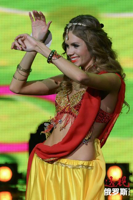 La principal afición de Tatiana es practicar danzas indias