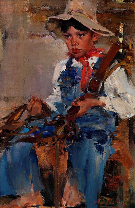 "Nicolai Fechin, ""The Little Cowboy"", 1940 - £6.95 million. This artist from Kazan, who studied under Repin and emigrated to America in 1923, is well-known in his native land except to the employees of the Kazan museum where many of his works are kept."