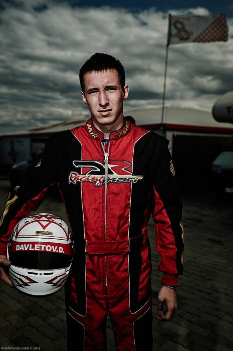 Damir, 19, has been racing since he was 7. Successful racers can receive support from sponsors. Well-known automobile and motor oil brands step up to be team sponsors.