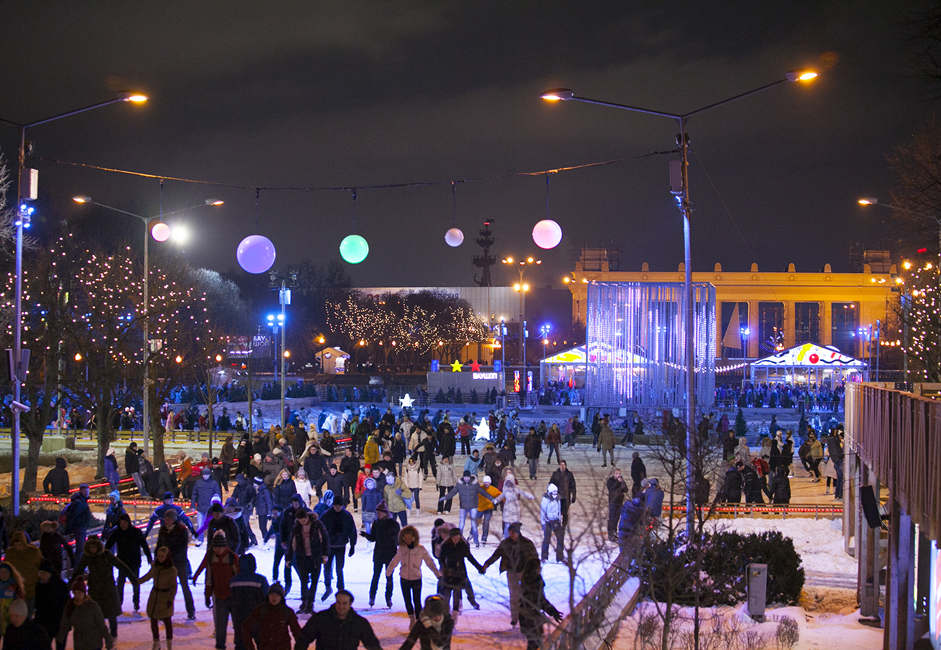 <a > <u>Gorky Park&#039;s skating rink.</u> </a> The skating rink at Gorky Park is located at 9 Krymsky Val, near Oktyabrskaya metro station. The Gorky Park skating rink is one of the largest artificial, all-weather ice rinks in Europe (it covers over 18,000 square meters).