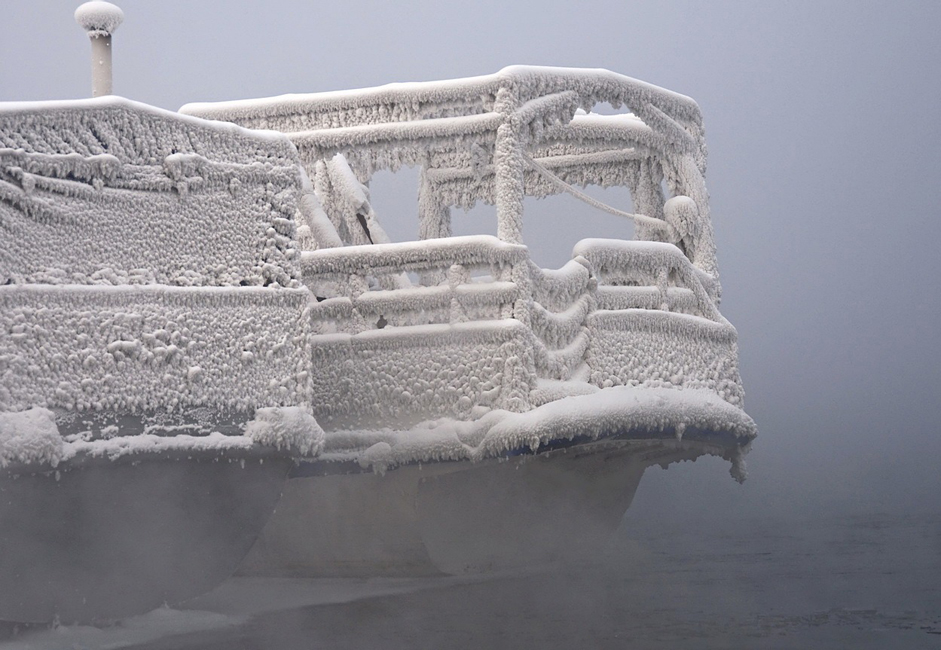 """""""Winter dream."""" Taken on the Yenisei. The water and humidity had caused such hoarfrost to form after several days of cold."""