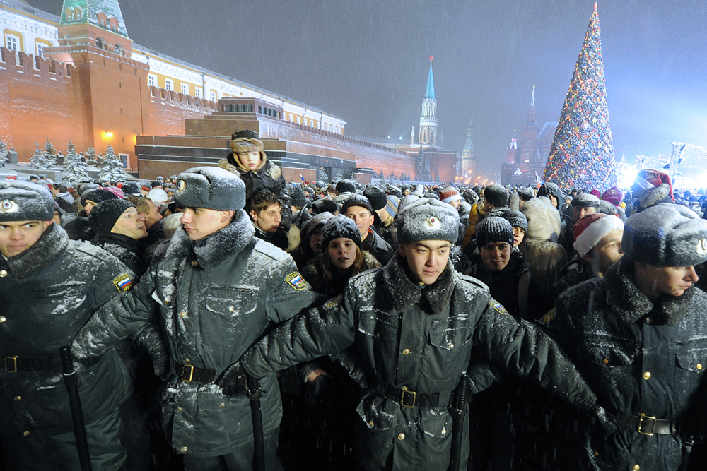 For the police, it is a very difficult day indeed when such large numbers of people appear in the streets to greet each other.