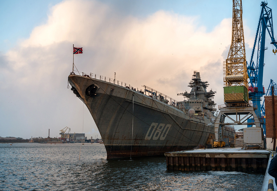 The Project 1144 Orlan Kirov-class battlecruiser, which entered into service in December 1988, has been under repairs at Severodvinsk since 1999 (in practical terms, it's been out of service). However, the contract to modernize the battlecruiser was only agreed to in May 2013.