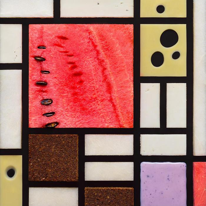 """Piet Mondrian, """"Composition with red, yellow, and blue"""", 1921. """"I really love the geometry and fascinating combination of colors."""""""