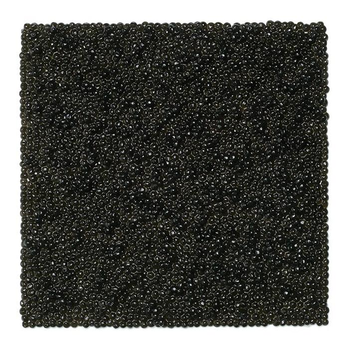 """Kazimir Malevich, """"Black Square"""", 1923. """"This is the most recognizable Russian painting, that's why I used black caviar to bring it to life."""""""