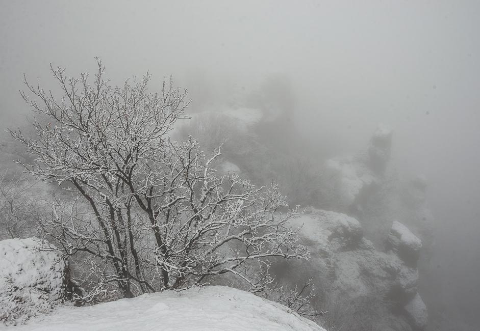 El macizo montañoso Demerzhí-yailá es un monumento natural de importancia nacional. Se encuentra en Crimea, a 10 kilómetros de la ciudad de Alushta.