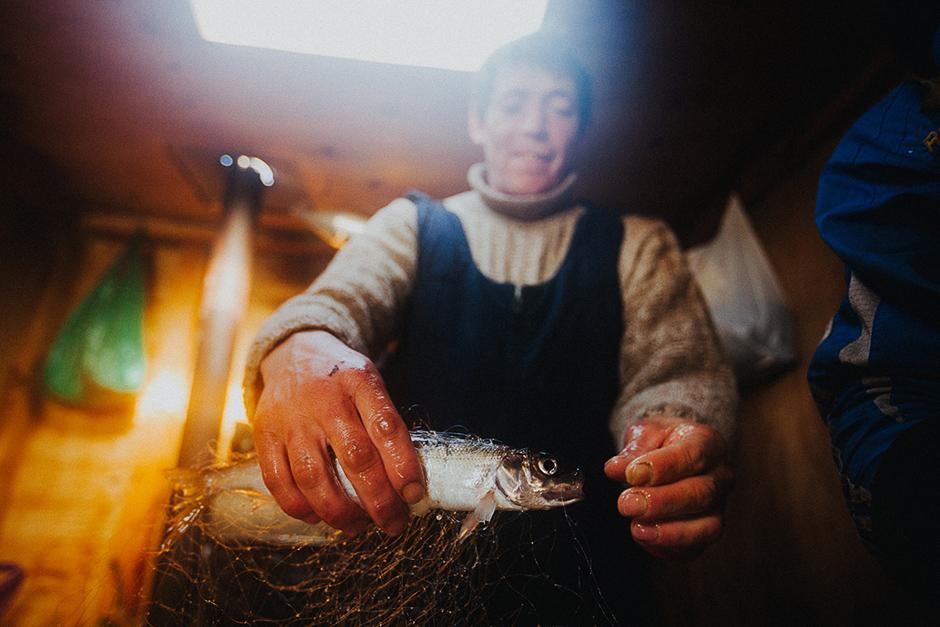 """Nowadays there's not that much omul in Baikal. Years ago we got more than a ton from only one fishing net!"" says one of the local fishermen."