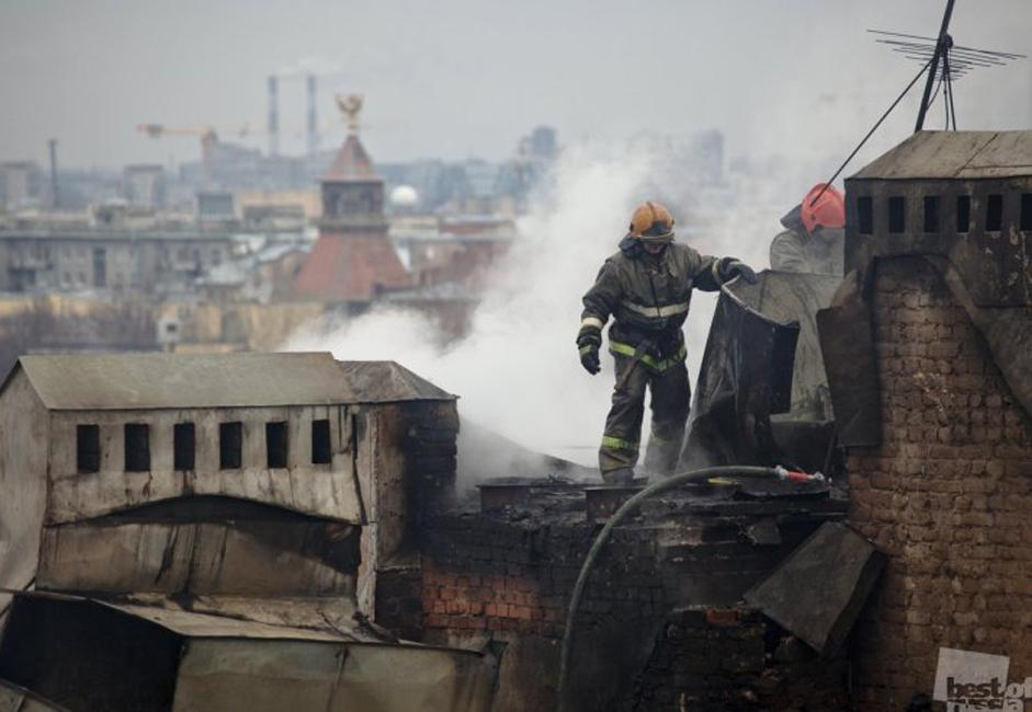 A fireman, Saint Petersburg